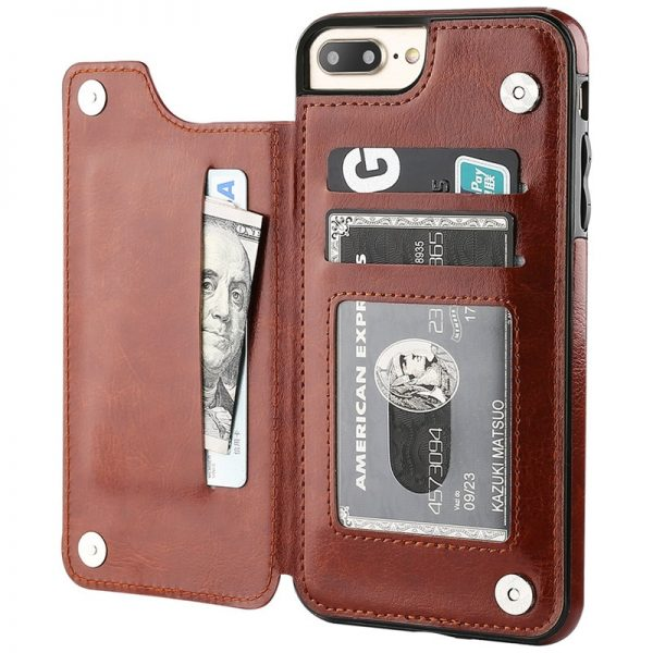 Business Wallet Cases For iPhone Brown