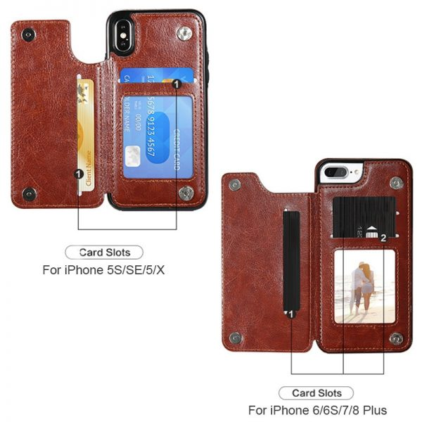 Business Wallet Cases For iPhone Red