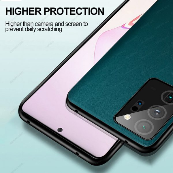 Samsung Luxury Leather Full Protection Shockproof Soft Edge Back Cover