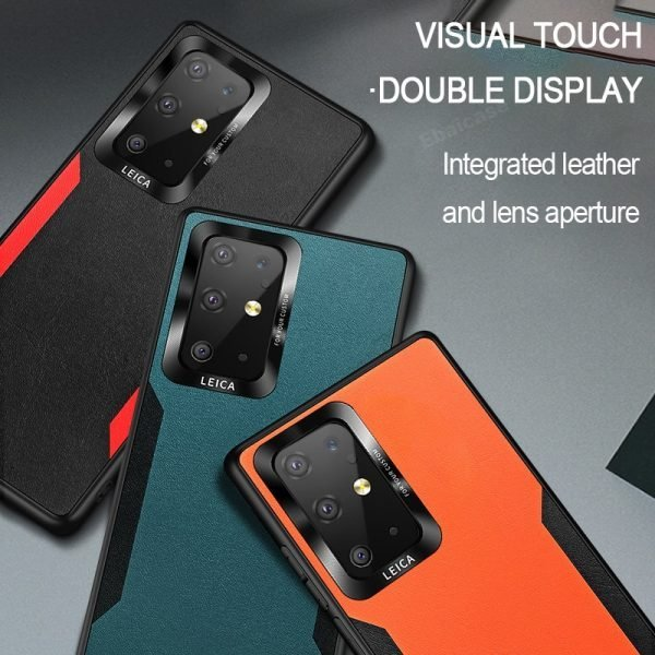 Samsung Galaxy Luxury Leather Shockproof Ultra Thin Back Cover
