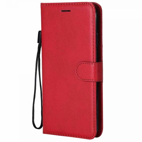 Leather Flip Case for Samsung Galaxy Red