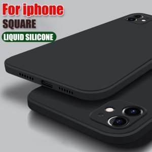 Liquid Silicone Phone Case For iPhone 12 11 Pro XR X XS Max SE 2020 8 7 6 6s Plus Original Soft Cover